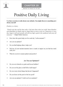 Dealing and Healing Chapter 29 Positive Daily Living