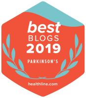 2019 Healthline's best blogs Parkinson's badge