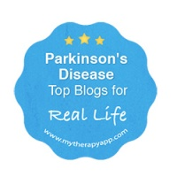 MyTherapy Top Parkinsons Blogs Real Life badge 2019